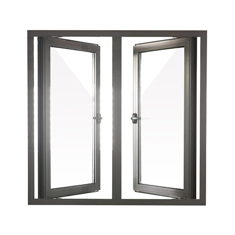 Double Glazing aluminum French casement window Crank out casement window with CE certification on China WDMA