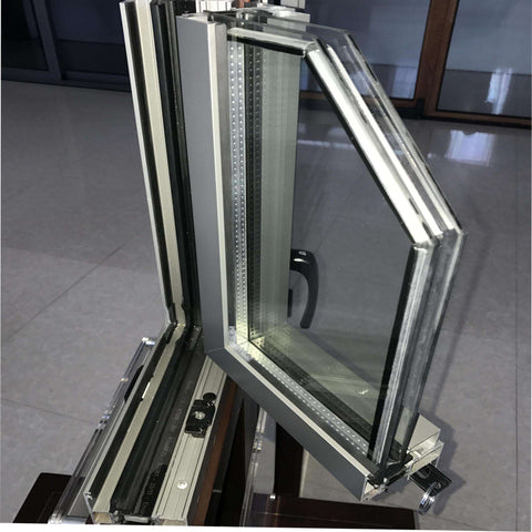 Double french pane windows double tempered glass with shutter blinds for house windows on China WDMA