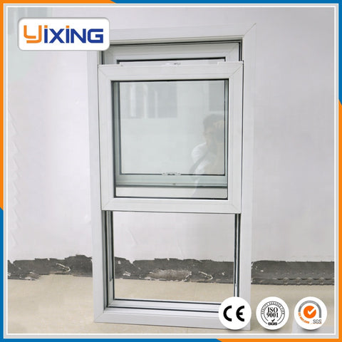 Double glass aluminum white double hung windows on China WDMA