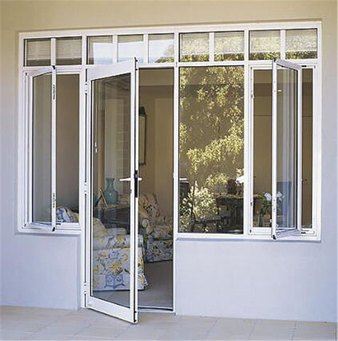 Double glass exterior aluminium out swing patio doors french glass door on China WDMA