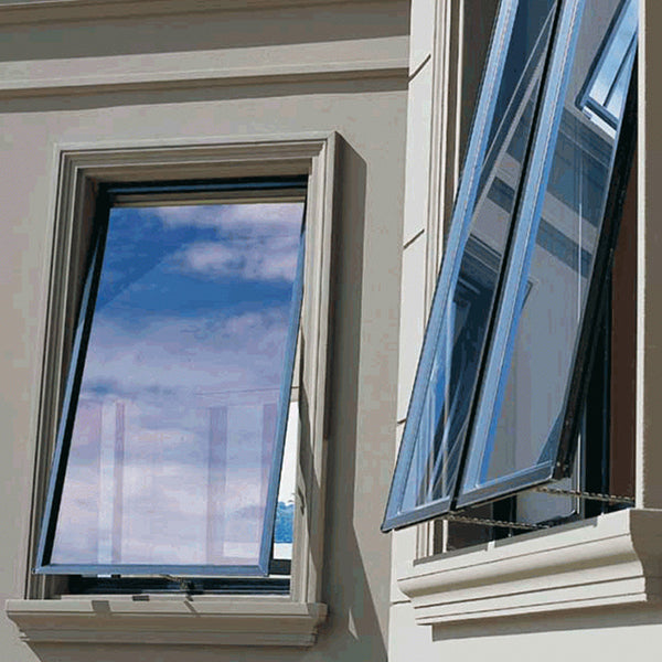 Double glass wind load resistance aluminium awning large glass windows for sale on China WDMA