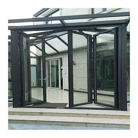Double glazed accordion sliding folding door patio door design for balcony on China WDMA