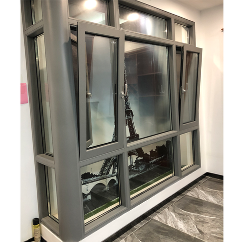 Double glazed aluminium windows powder coating beautiful design aluminium window in kerala top hung swing window on China WDMA