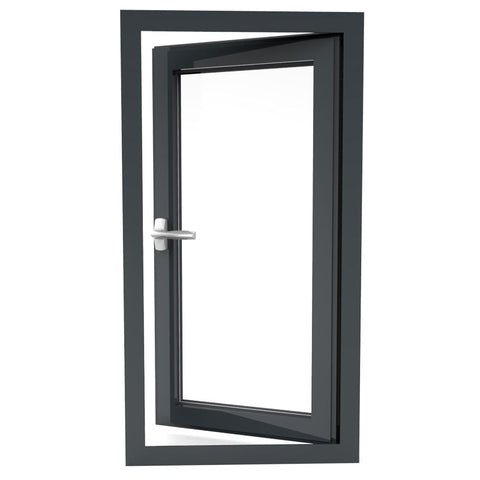 Double glazed aluminum profile windows and door residential aluminum window doors on China WDMA