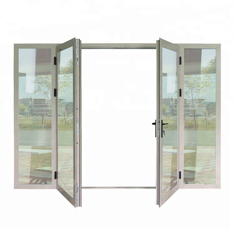 Double glazed french door hinged door design aluminum doors on China WDMA