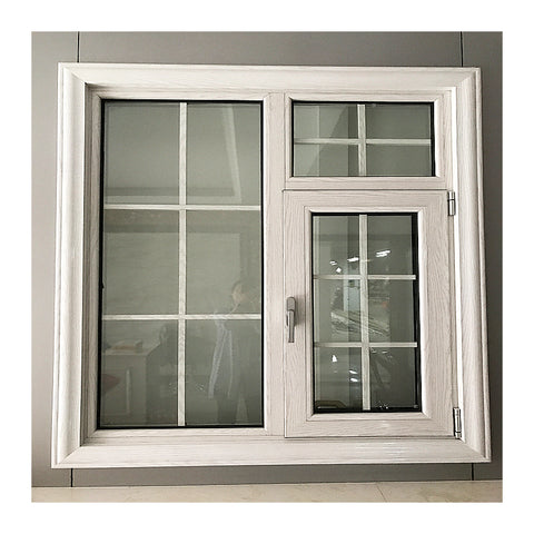Double glazed windows awning window aluminum louver window on the top