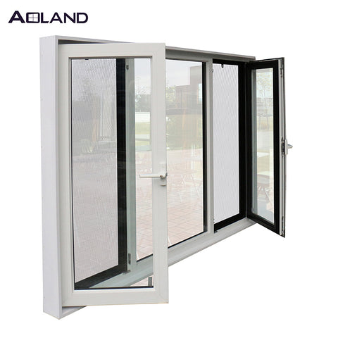 Double glazed windows casement window aluminium window design on China WDMA