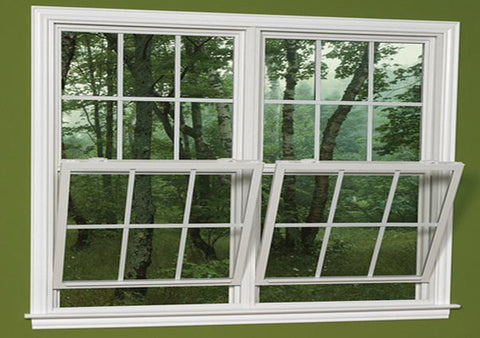 Double glazing aluminum double hung window single hung windows factory on China WDMA