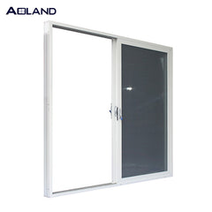 Double glazing aluminum toughened glass sliding door windows and doors with mosquito mesh commercial grade on China WDMA