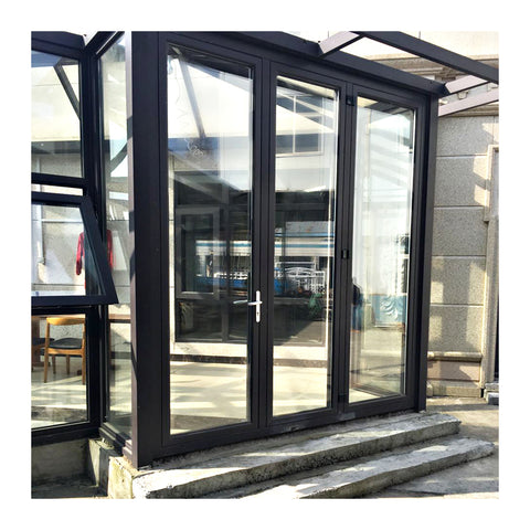Double lowes sliding glass patio doors with blinds on China WDMA