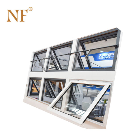 Double panel top hung awning frosted glass window on China WDMA