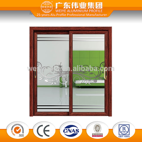 Durable alloy aluminum sliding glass door price 4 panel glass door on China WDMA
