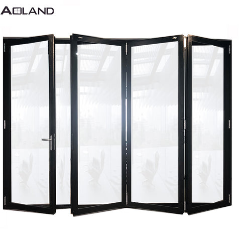 Durable low-e double glazed aluminium bifold doors easy to install on China WDMA
