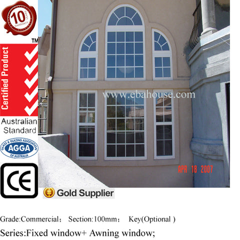 EBAhouse new design window aluminum sliding windows double glazed windows CE/AS2208/AS2047 aluminium window screen frame on China WDMA