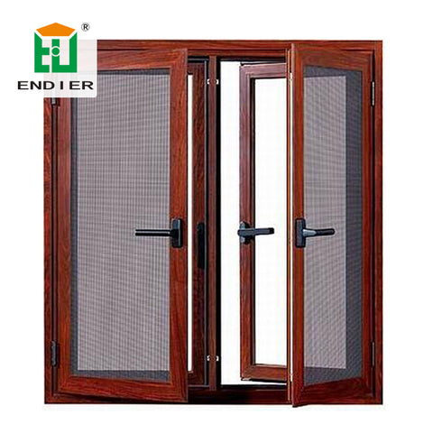 ENDIER Security buy aluminum windows for sale online Waterproof aluminum casment window Aluminum Frame channel window on China WDMA