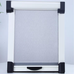 Easy install adjustable invisible insect door sliding no drilling retractable fly screen on China WDMA