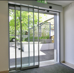 Easy to install and miantain tempered glass telescopic sliding door on China WDMA