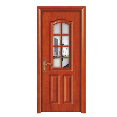 Economic Grill Design PVC Casement Glass Door French UPVC Casement Door on China WDMA