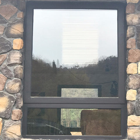 Economical Custom Design Brown Aluminum Fixed And Casement Glass Windows on China WDMA