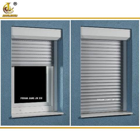 Electric roller shutter window Rolling up type security manual/electric operation aluminum window rolling shutters on China WDMA