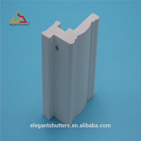 Elegant waterproof Extrusion PVC shutter solid vinyl shutters window frame on China WDMA