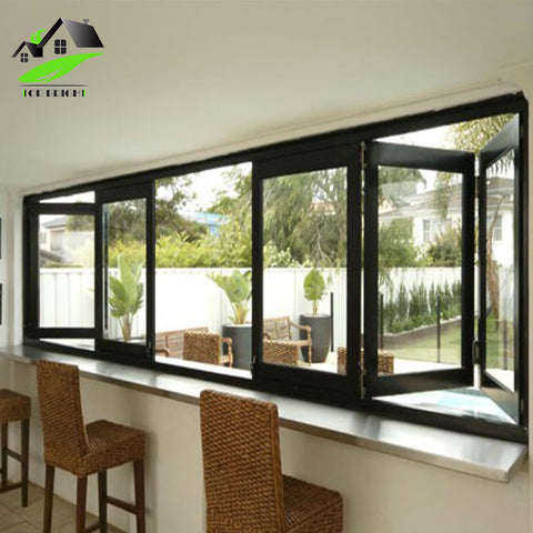 Energy Saving Thermal Break Profile Aluminum Double Glass Bifold Window Folding on China WDMA