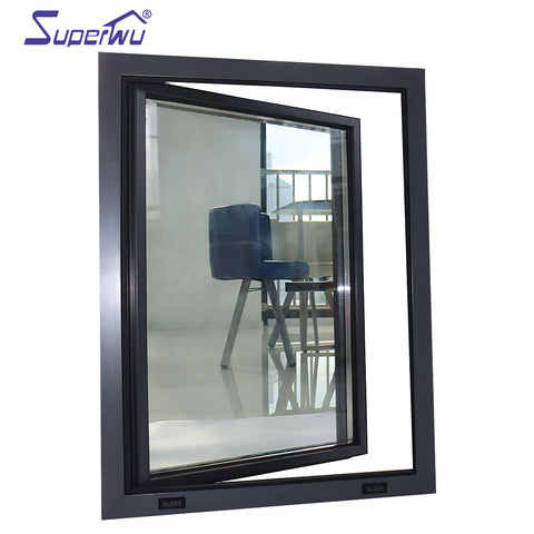 Energy saving double glass window aluminium casement window insulate window with superhouse System on China WDMA