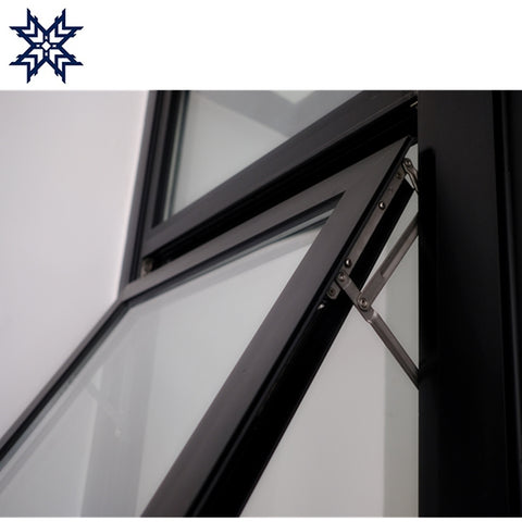 Energy saving double glass window aluminum awning windows on China WDMA