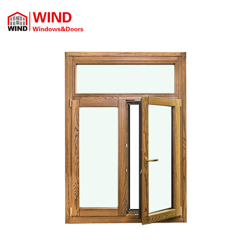 Europe Style Energy Efficient Aluminum Clad Wood Casement Windows on China WDMA