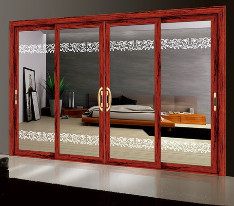 European Style Aluminum Glazed 3 Layered Panel French Slide Door on China WDMA