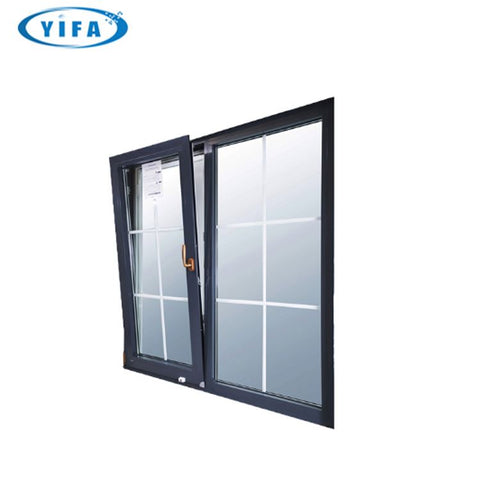 European standard high Performance W62 awning design energy efficient manual aluminum shutter turn and tilt window on China WDMA