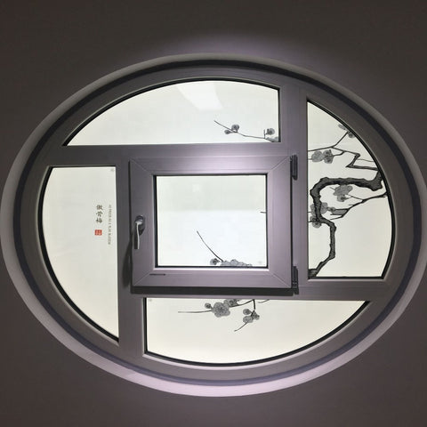 European style UPVC windows used vinyl roof window skylight round windows for sale