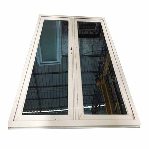 European style high quality aluminium frame laminated glass casement window with balcony metal window grill design on China WDMA