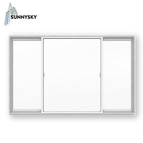 European style vinyl factory upvc cost sliding detail window on China WDMA
