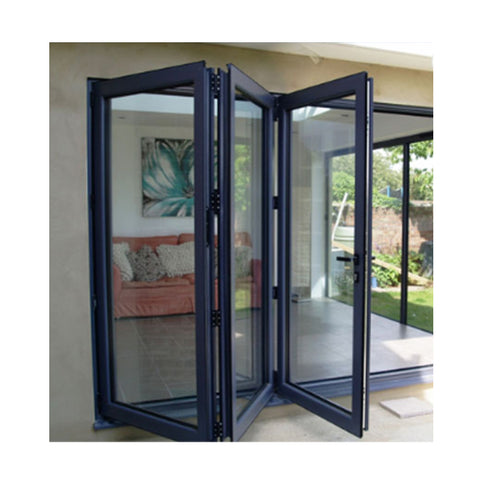 Exterior Customized Size Insulated Glass Aluminum Alloy Bifold Doors on China WDMA