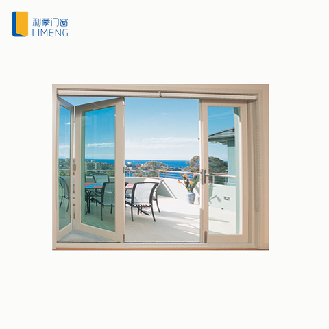 Exterior Easy Moving aluminum Sliding Folding Glass Doors for balcony on China WDMA