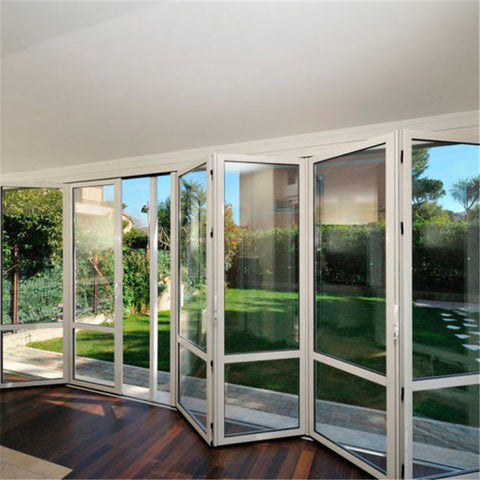 Exterior aluminium folding door bi fold patio glass screen door prices on China WDMA