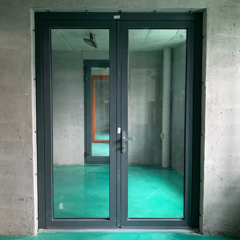 Exterior aluminum casement door french door on China WDMA