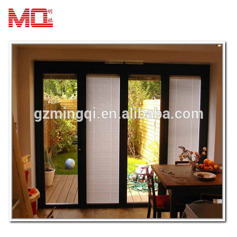 Exterior aluminum lowes sliding patio doors with built in blinds on China WDMA
