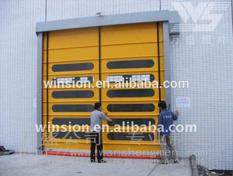 Exterior folding industrial gate door on China WDMA