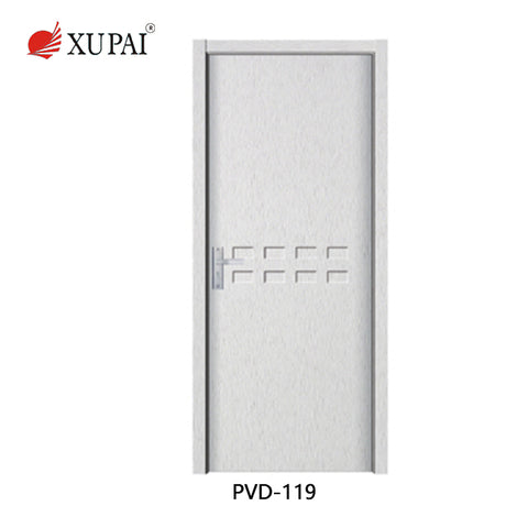 Factory Direct Sale pvc door manufacturers white upvc french doors white upvc door on China WDMA
