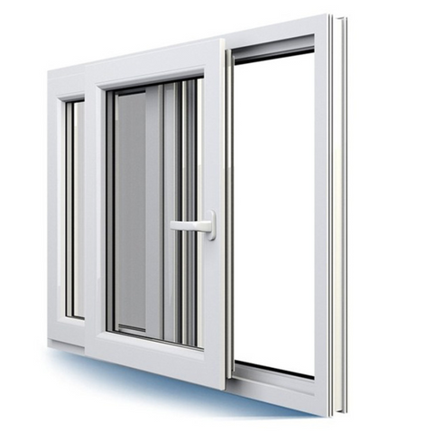 Factory High quality low price upvc material Casement Transom Window upvc profiles windows plastic Pvc frame glass window on China WDMA