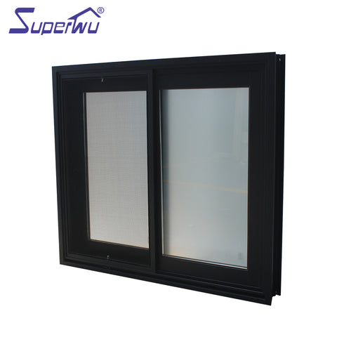 Factory Hot Sales zambia aluminum sliding window price balcony glass unbreakable with cheap on China WDMA