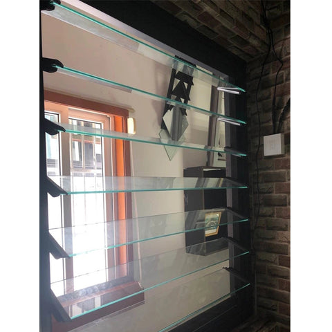 Factory cheap bathroom insulation adjustable louver type window louvre frame plantation shutters windows price on China WDMA