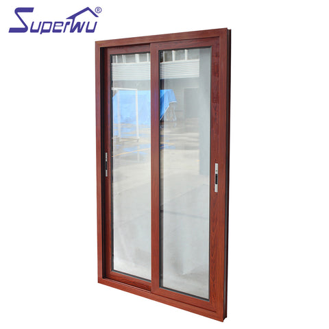 Factory cheap price modern aluminum entry door fiberglass french doors glass lobby with on China WDMA