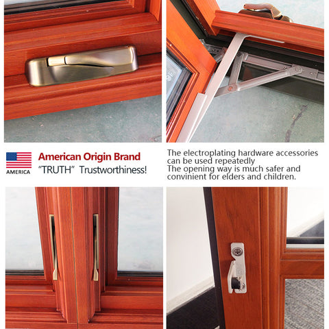 Factory direct selling milgard casement window cranks louvered glass manufacturers long horizontal windows on China WDMA