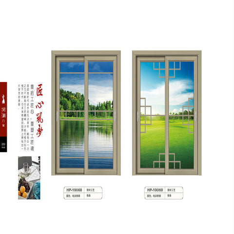 Factory direct supply outdoor modern stainless steel folding door sliding types of aluminium windows and doors on China WDMA