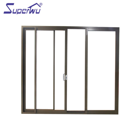 Factory made exterior glass panel doors french with blinds side panels on China WDMA