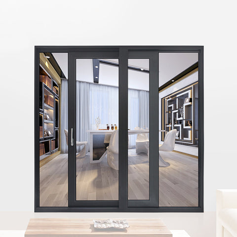 Factory price newest double pane sliding patio doors doorwin windows door prices on China WDMA