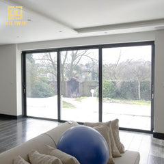 Factory price triple track modern design philippines patio living room double glazed temper glass aluminum sliding door on China WDMA